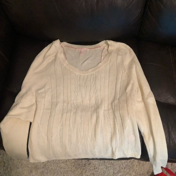 Victoria's Secret Sweaters - White soft shirt sweater never worn